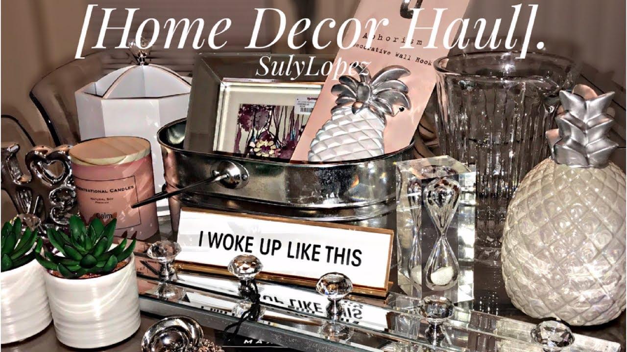 glam home decor haul sulylopez 2017 tj maxxx homegoods target marshalls ross dollar tree - Marshalls Home Decor