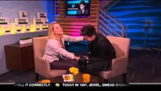 Adam Kisses Carrie Keagan on Big Morning Buzz Live 2012 12 11