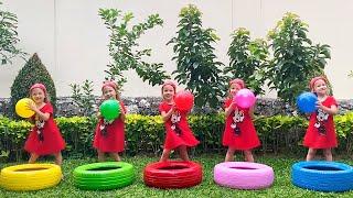 Belajar Warna Lima Bayi Kecil Melompat di Tempat Tidur Lagu anak-anak Video Edukasi Alex dan Nastya