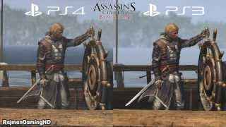 Assassin's Creed IV Black Flag - PS3 vs PS4 Graphics Comparison #2 [1080p] TRUE-HD QUALITY