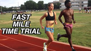Fastest 1 MILE RUN / TIME TRIAL   RUN THE FASTEST 1600M