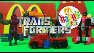 2003 Vs 1997 McDONALDS KIDS HAPPY MEAL TOYS TRANSFORMERS RANGE UNBOXING