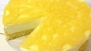 Йогуртовый торт с ананасами. Всего 175 ккал в 100 г.