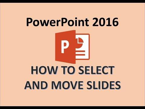 PowerPoint 2016 - Arrange Slides