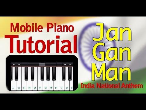 Jan Gan Man - Indian National Anthem | Best Mobile Piano Tutorial | Piano Lesson Jana Gana Mana