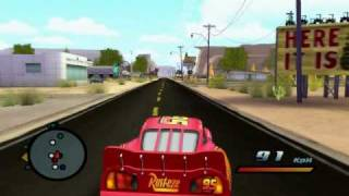 Cars the videogame PC gameplay