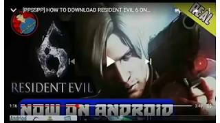 Resident Evil 6 (ppsspp) Android device | by mobail guruji | best games | Wow not feck...|best game