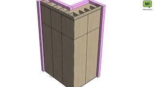 Встраиваемый угловой шкаф с системой Push to open от Hettich.(Это один из проектов нашей компании. Шкаф делали в 2 этапа. 1. этап монтаж самого корпуса без фасада и и замер..., 2016-04-21T11:54:31.000Z)