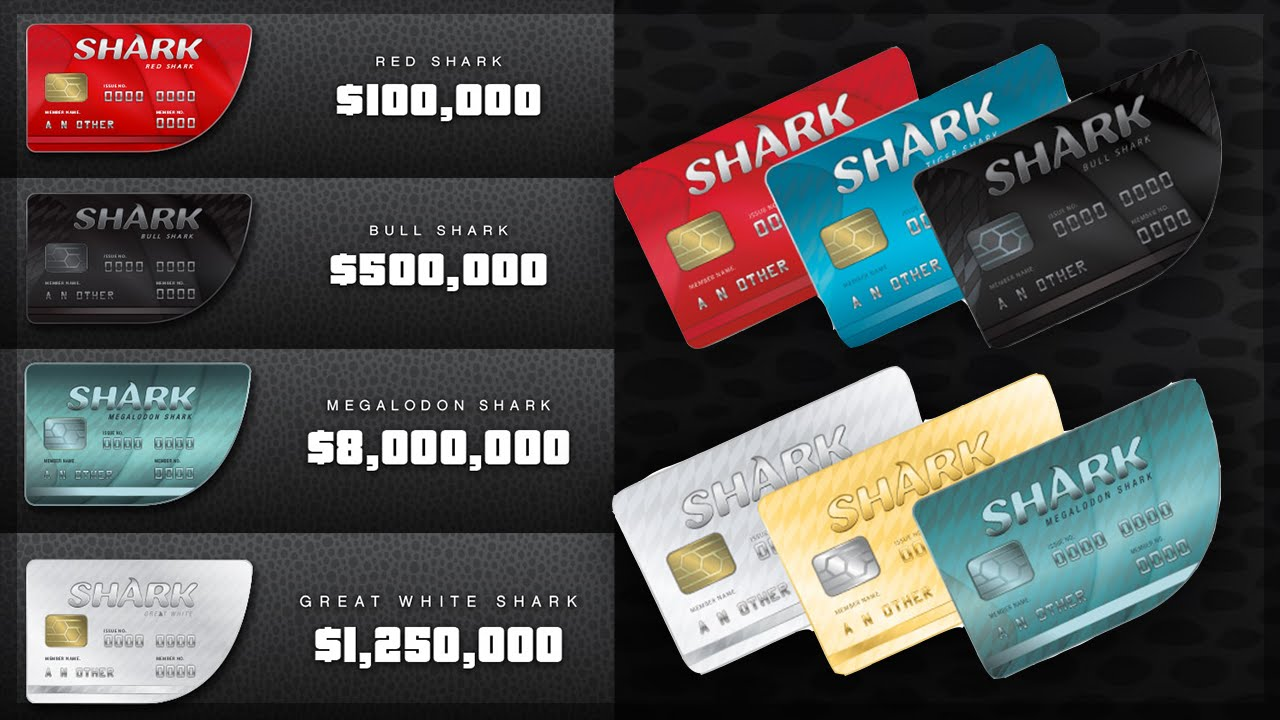 free shark cards gta v online