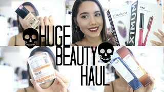 HUGE NEW AT SEPHORA AND DRUG STORE HAUL WITH REVIEW AND SWATCHES | 2017