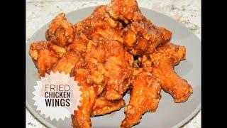 Panda Express Inspired Orange Chicken Wings - Fried Chicken Wings Recipe