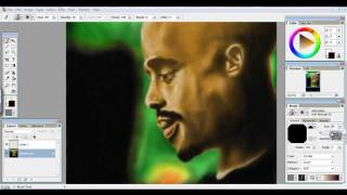 How To Draw Tupac in Photoshop