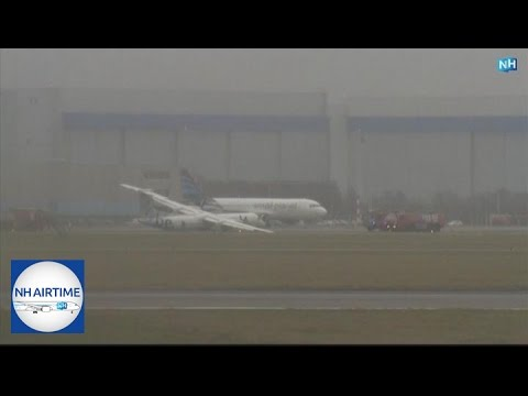 EARLIER LIVESTREAM: LANDING GEAR COLLAPSE DASH 8 FLYBE at SCHIPHOL