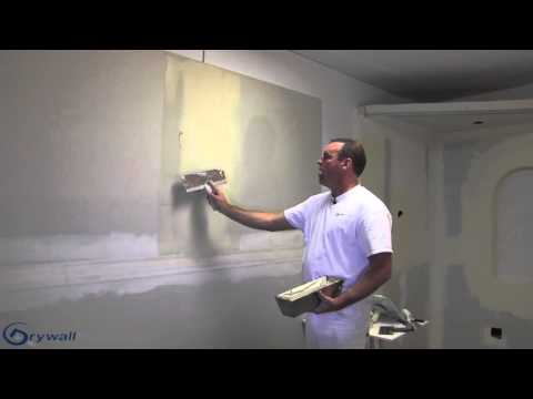 Taping and coating a butt joint/seam -  Drywall Instruction