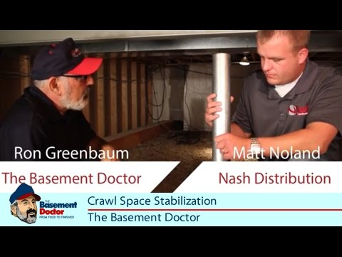 Crawlspace Stabilization | Floor Joist Support | Beam Repair | Basement  Doctor Of OH IN KY WV   YouTube