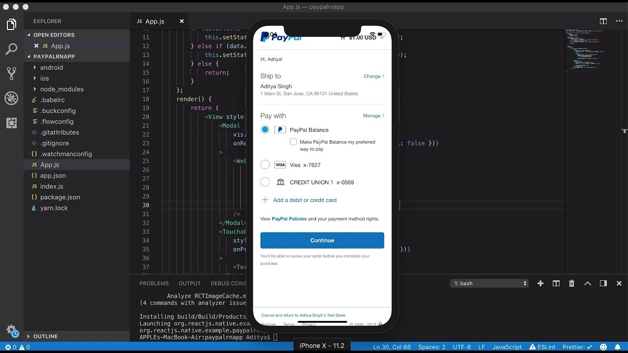 Integrating Paypal in your react native app - Aditya Singh