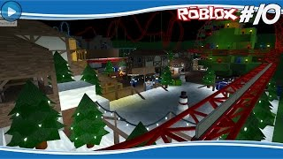 CHRISTMAS LAUNCH COASTER! - ROBLOX THEMEPARK #10