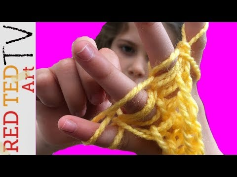 Finger Knitting Projects   RED TED ART TV   E6