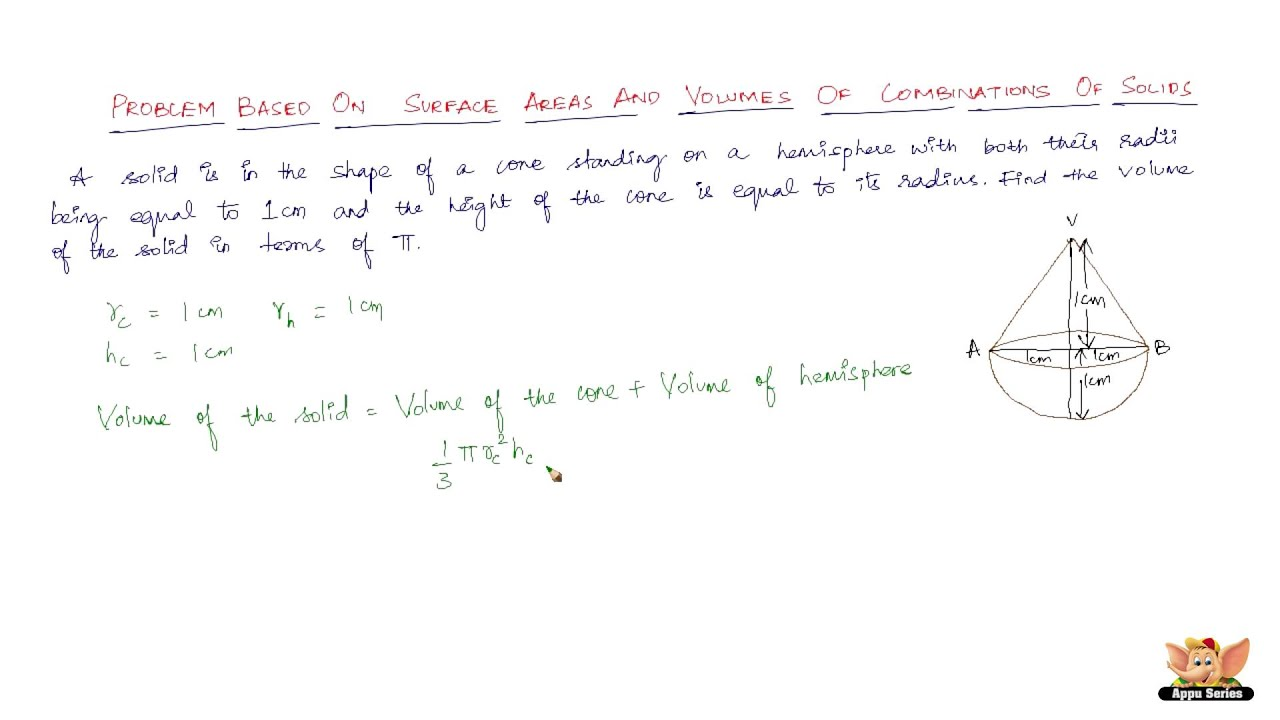 How To Solve Problems Based On Surface Area And Volume Of