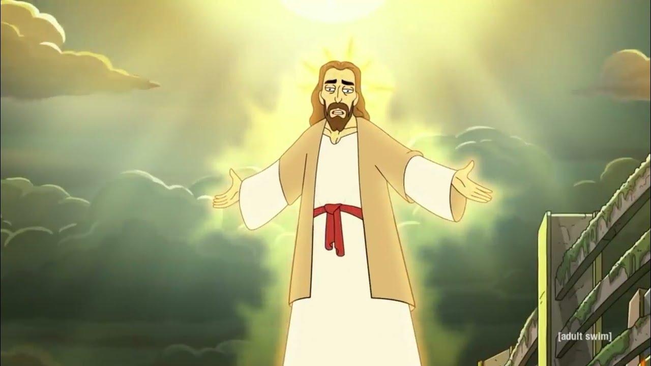 Download Rick And Morty Meet Jesus