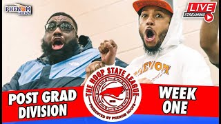 FREE STREAM FRIDAY: The #HoopState Post-Grad League Opening Weekend + Phenom Open Run!! [4 games]