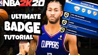 NBA 2K20 Mobile BADGE Tutorial! How to EASILY get All the BADGES!