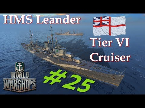 World of Warships - The Adventures of Captain Numbnut: Ep. 25 - HMS Leander