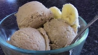 No sugars, NO creams, NO milk!  Healthy Banana & Peanut Butter Ice Cream!!