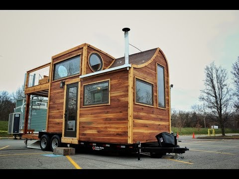 Amazing Tiny House With Rooftop Tub Youtube