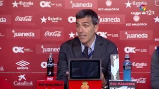 Rueda de prensa de López Muñiz tras el RCD Mallorca vs Levante UD (1-1)