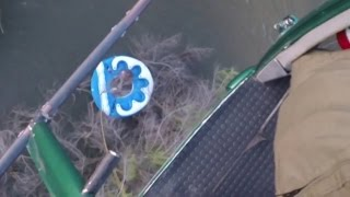Police Helicopter Rescues Stranded People In River
