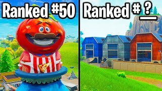 RANKING EVERY LOCATION IN FORTNITE EVER FROM WORST TO BEST!