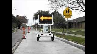 Prodigy 23L Radar Speed Message Sign by Monitor Systems