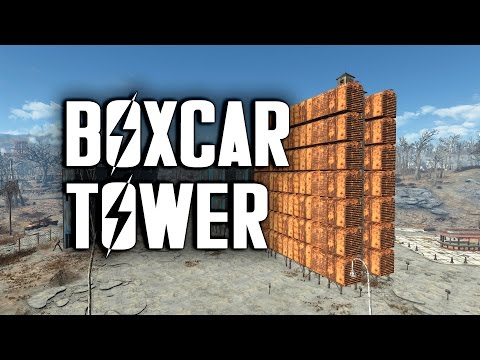 Let's Build a Boxcar Tower - Fallout 4