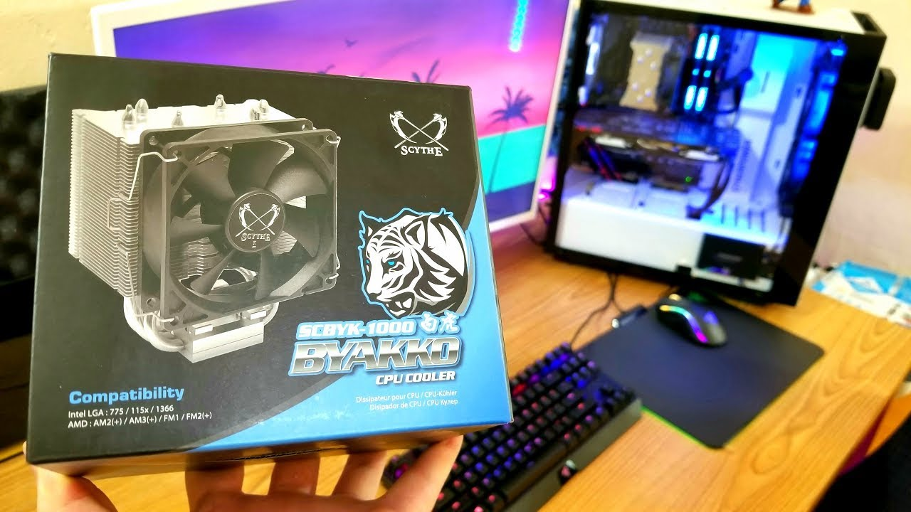 Download Budget Air Cooler: Scythe Byakko CPU Cooler Unboxing, Installation Tutorial, & First Impressions
