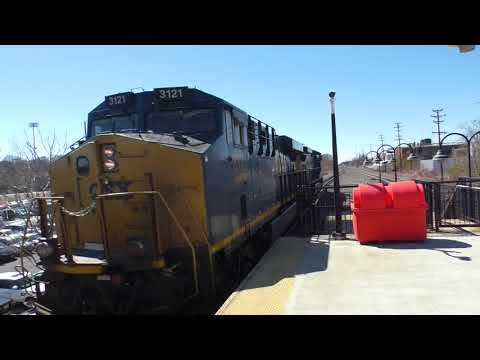 (HD) Trains at Union, New Jersey - 23/3/17 including CSX & Norfolk Southern.