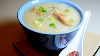 Dim Sum:  Chicken Congee - ( chicken porridge )Home made.