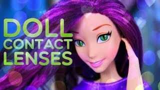 DIY - How to Make: Doll Contact Lenses EASY Custom Doll Craft