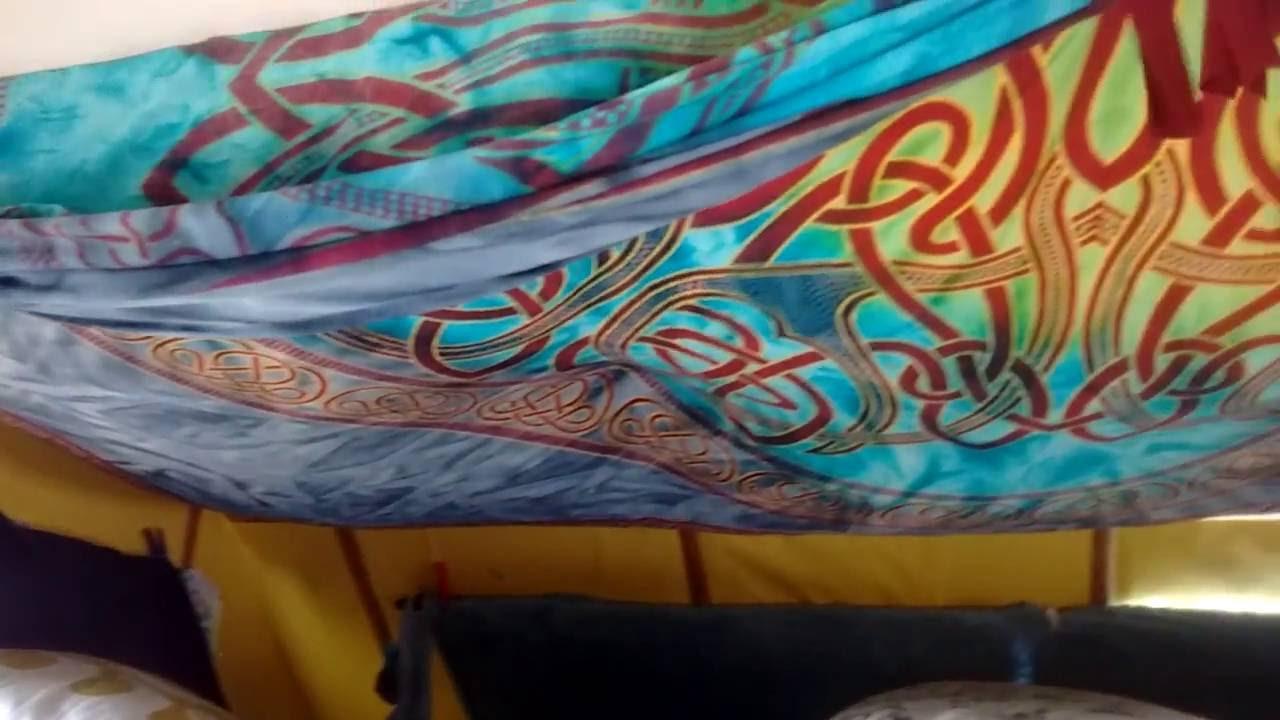 Using Tapestry For Ceiling Coverage In Mobile Rv Van Life Diy Remodel