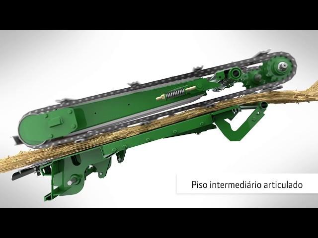 John Deere ceifeira-debulhadora S700 animação fluxo de culturas