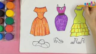 Dạy bé học tập vẽ váy thời trang | Day be hoc tap ve vay thoi trang | Day be hoc