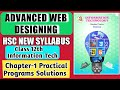 Practical Programs HSC IT Exercise solution Chapter1 Advanced Web Designing using HTML CSS class 12