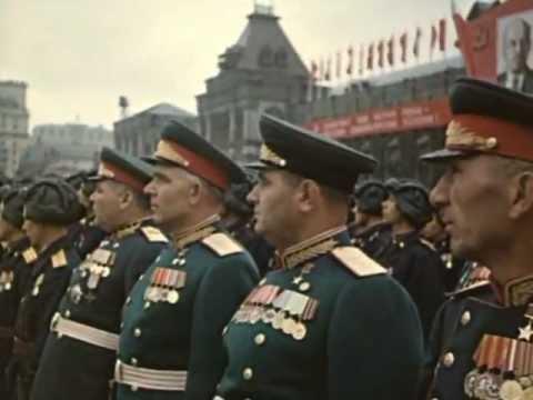 парад 1945 года на красной площади видео