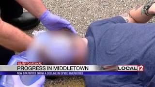New statistics show a decline in opioid overdoses in Middletown
