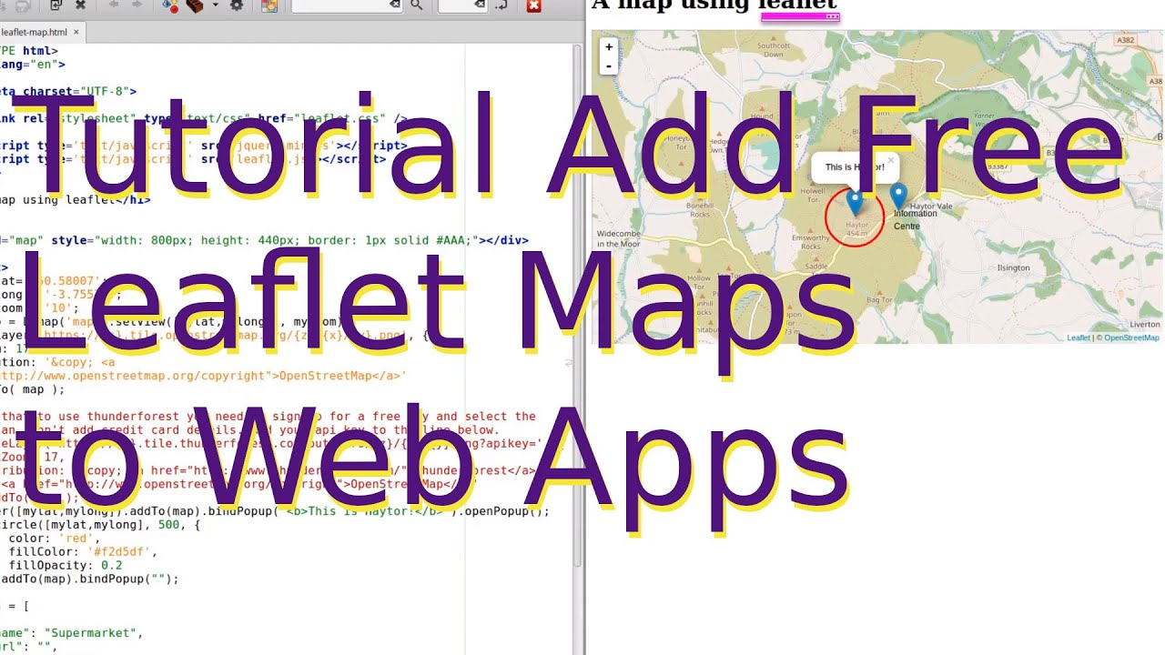 Tutorial: How to add a leaflet map to your web app