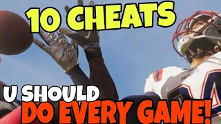 10 CHEATS U Don't Know, But Should DO EVERY GAME! Madden NFL 21 Offense & Defense Tips and