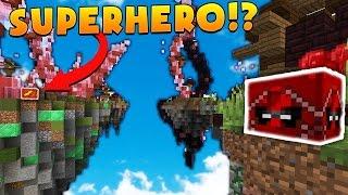Minecraft 2v2 SUPERHERO ISLAND PINK LUCKY BLOCK BATTLES! | (Minecraft Modded Minigame)