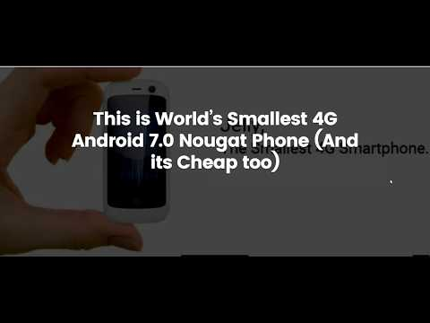 The Smallest 4G Smartphone