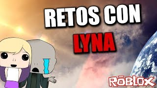 I CHALLENGE LYNA TO WIN ME IN ROBLOX WHO WILL WIN?