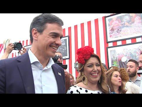 Pedro Sánchez y Susana Díaz coinciden en la Feria de Abril